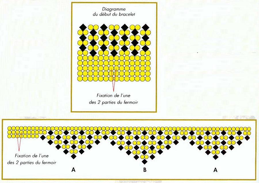 Схема плетения украшений: