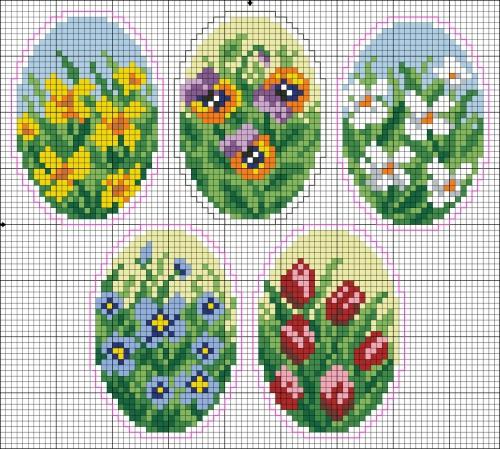 схема плетения яйца