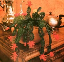 кактус из бисера