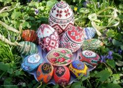 плетение яиц бисером схемы мозаичным плетением