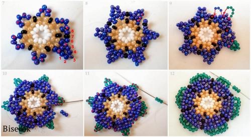 плетем серьги-цветки