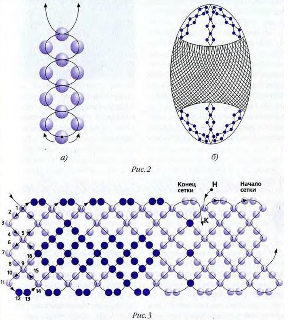 Оплетка на яйцо из бисера
