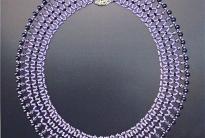 фиолетовое колье