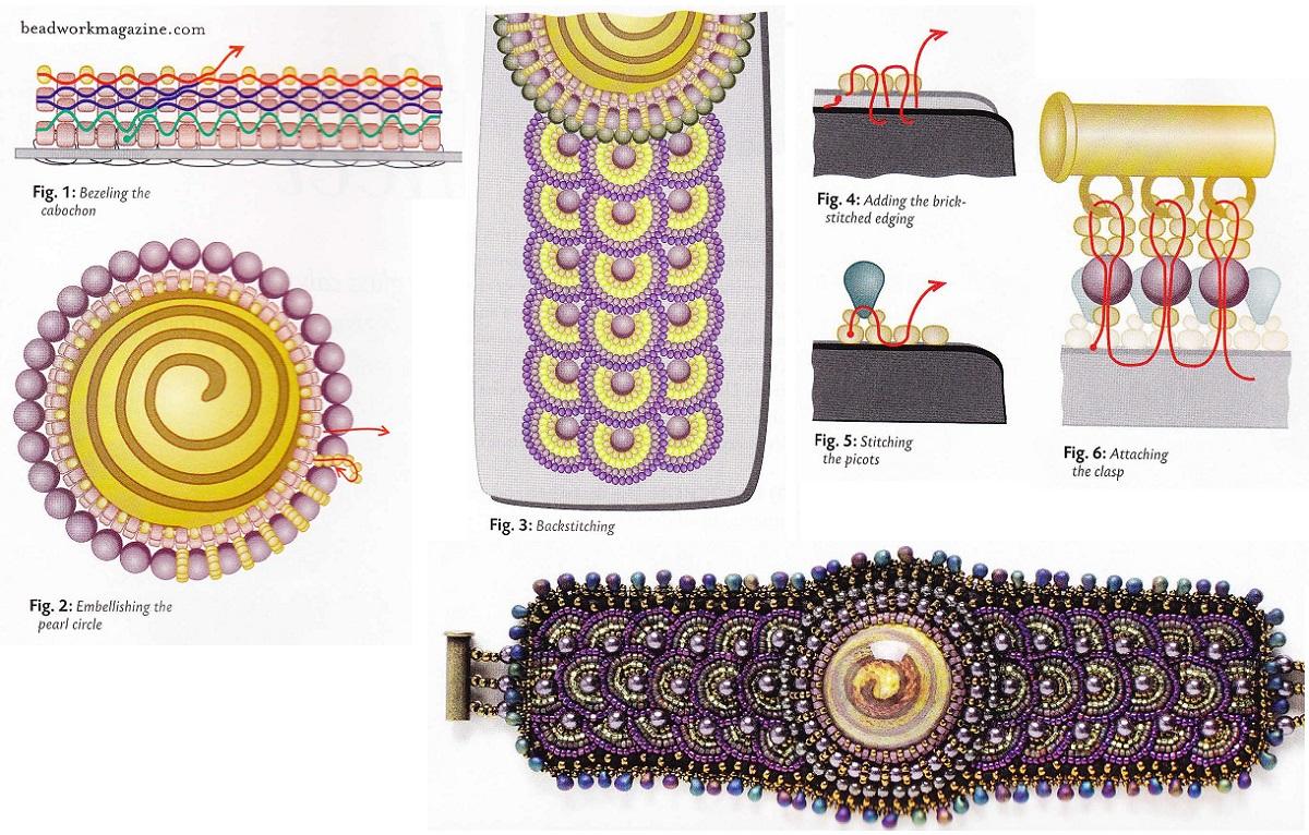 Как вышивать браслет из бисера