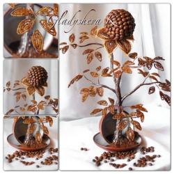 кофейное дерево из бисера