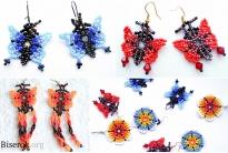 Серьги-бабочки Уичоль
