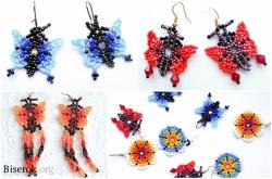 сережки бабочки