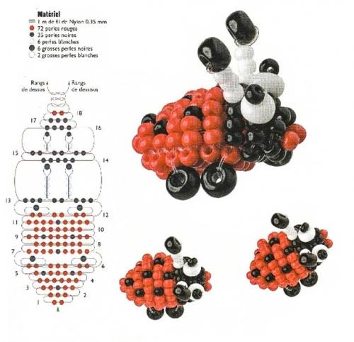 Схема плетения букашки.