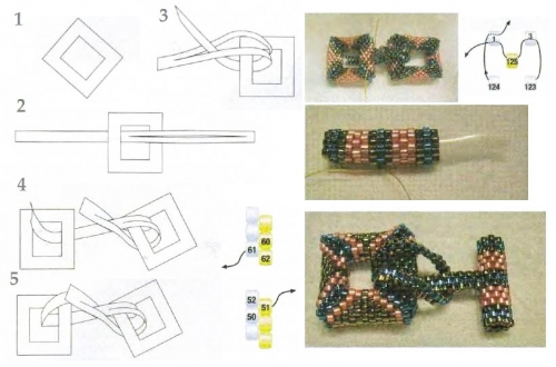 плетение застежки для браслета