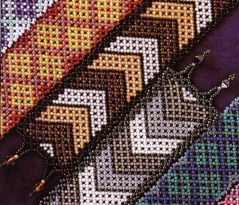 Previous Entry. браслет. сайта biserok.org.  Яркие браслеты из бисера с полосатым орнаментом от.  Link.