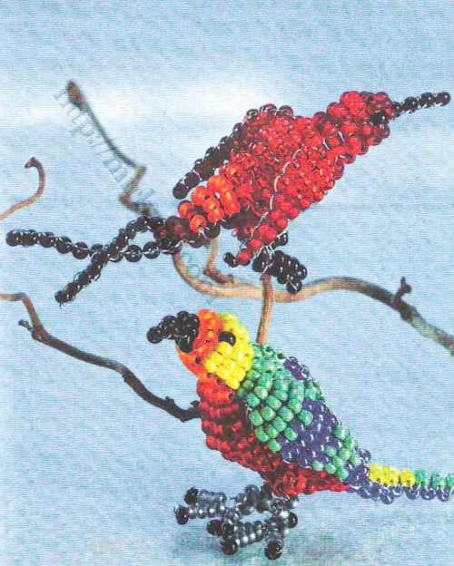 попугай и колибри из бисера