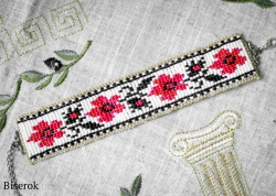 браслет в технике ткачества