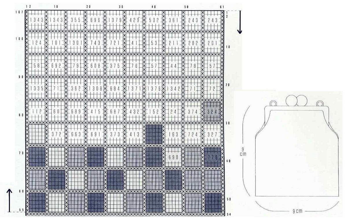 Схемы для косметички вязание бисером 51