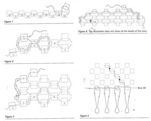 Схема плетения сумочки из бисера в стиле хиппи.