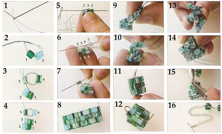 Схема плетения кубика: