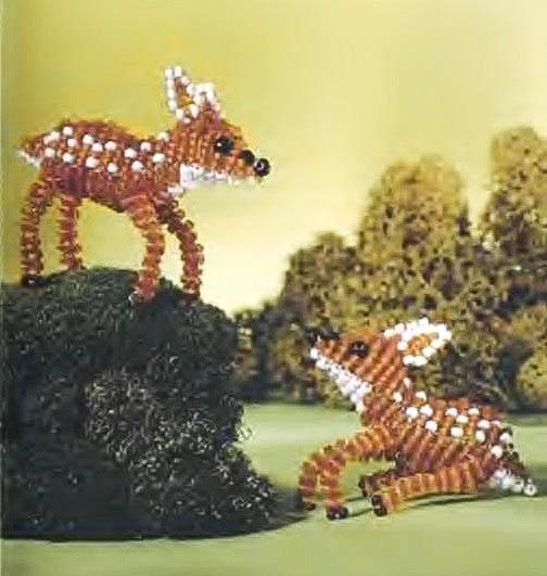 Схема плетения оленей: