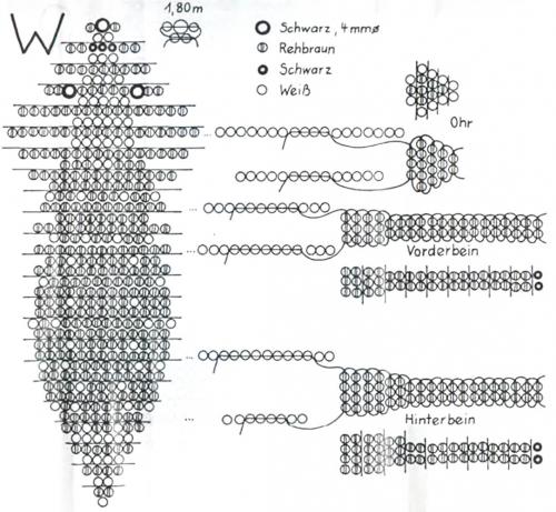 плетем олененка