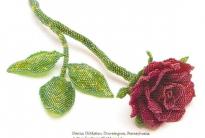 Роза в мозаичной технике