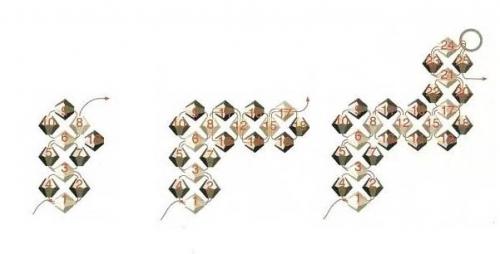 плетем простые серьги из бусин