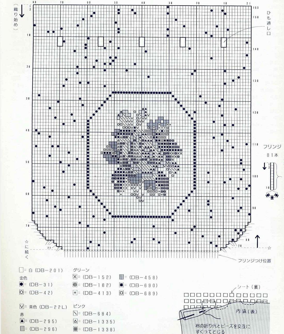 схема кошелька из бисера