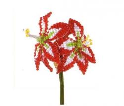 Давайте научимся плести цветок амариллис из бисера в очень простой технике плетения - параллельной.
