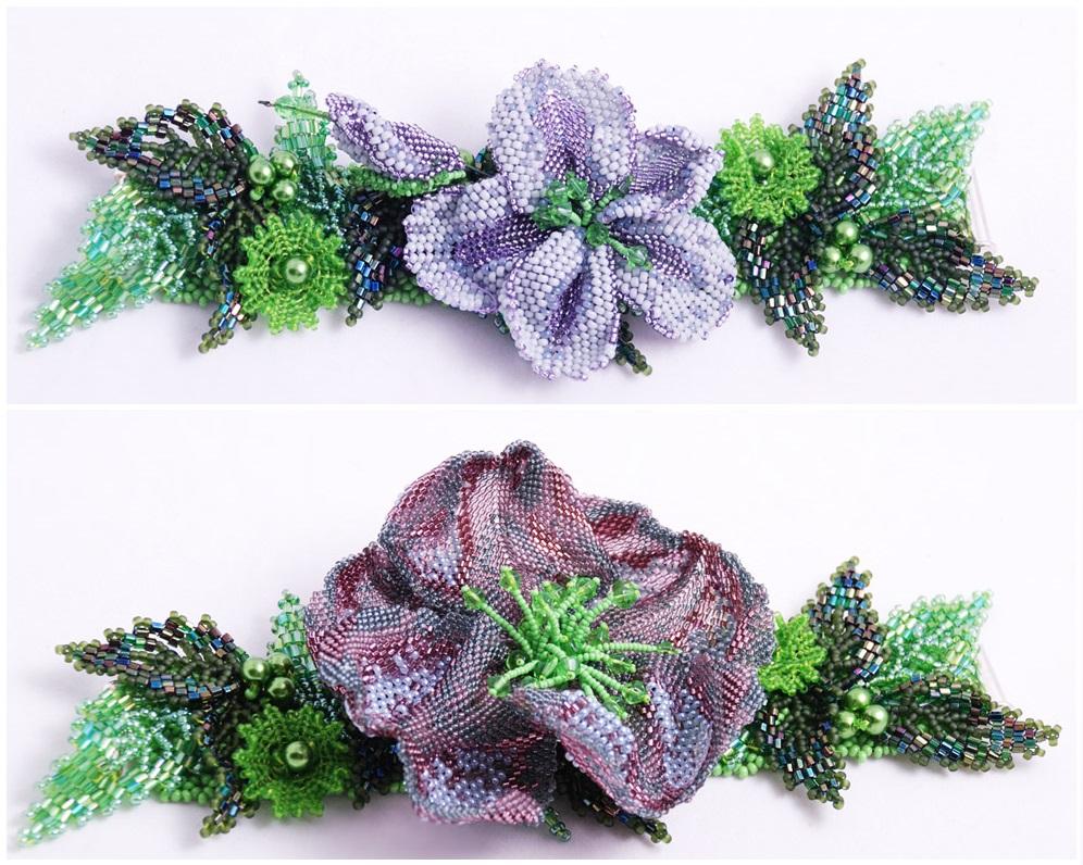 ажурная сетка плетение цветов схема