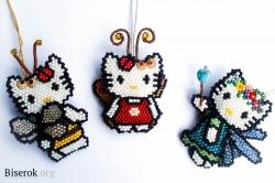 кошки-китти из бисера