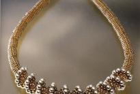 золотистый жгут спираль