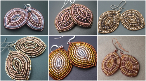 Плетение сережек из бисера
