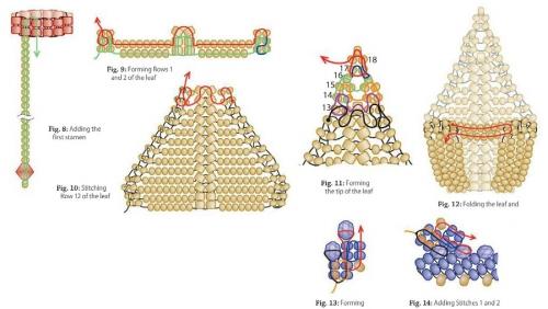 плетение колье по схеме