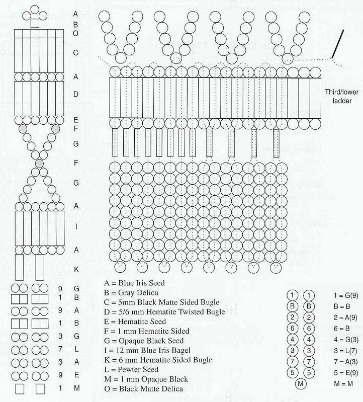 схема для плетения колье из