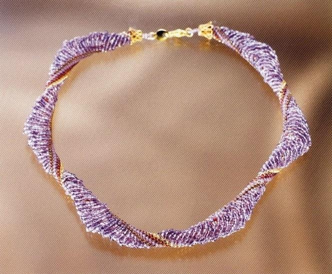 Жгуты из бисера мозаичное плетение фото