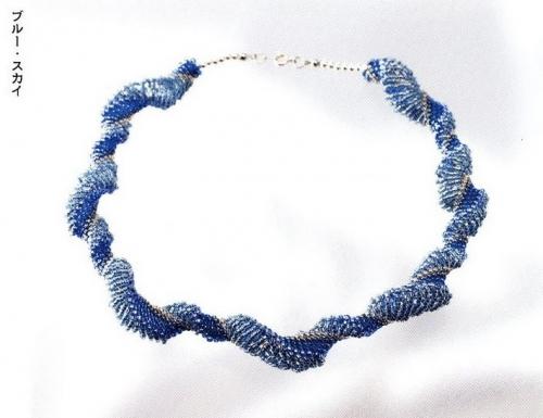 синий жгут из бисера
