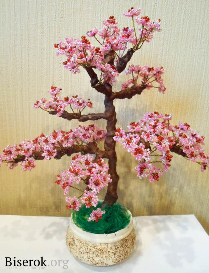 бисероплетение дерево сакура мастер класс.
