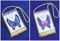 Сумочка с бабочкой на шею