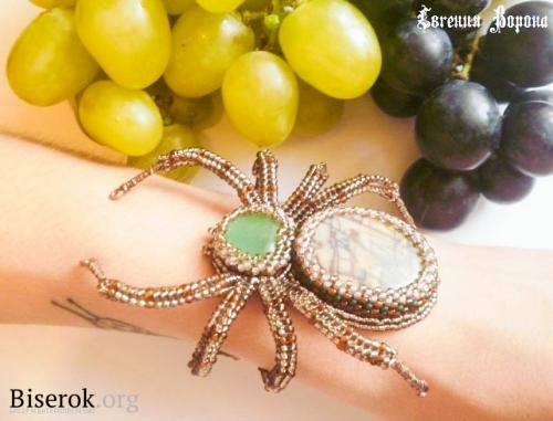 как сделать браслет паук