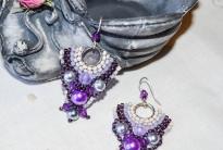 фиолетовые серьги
