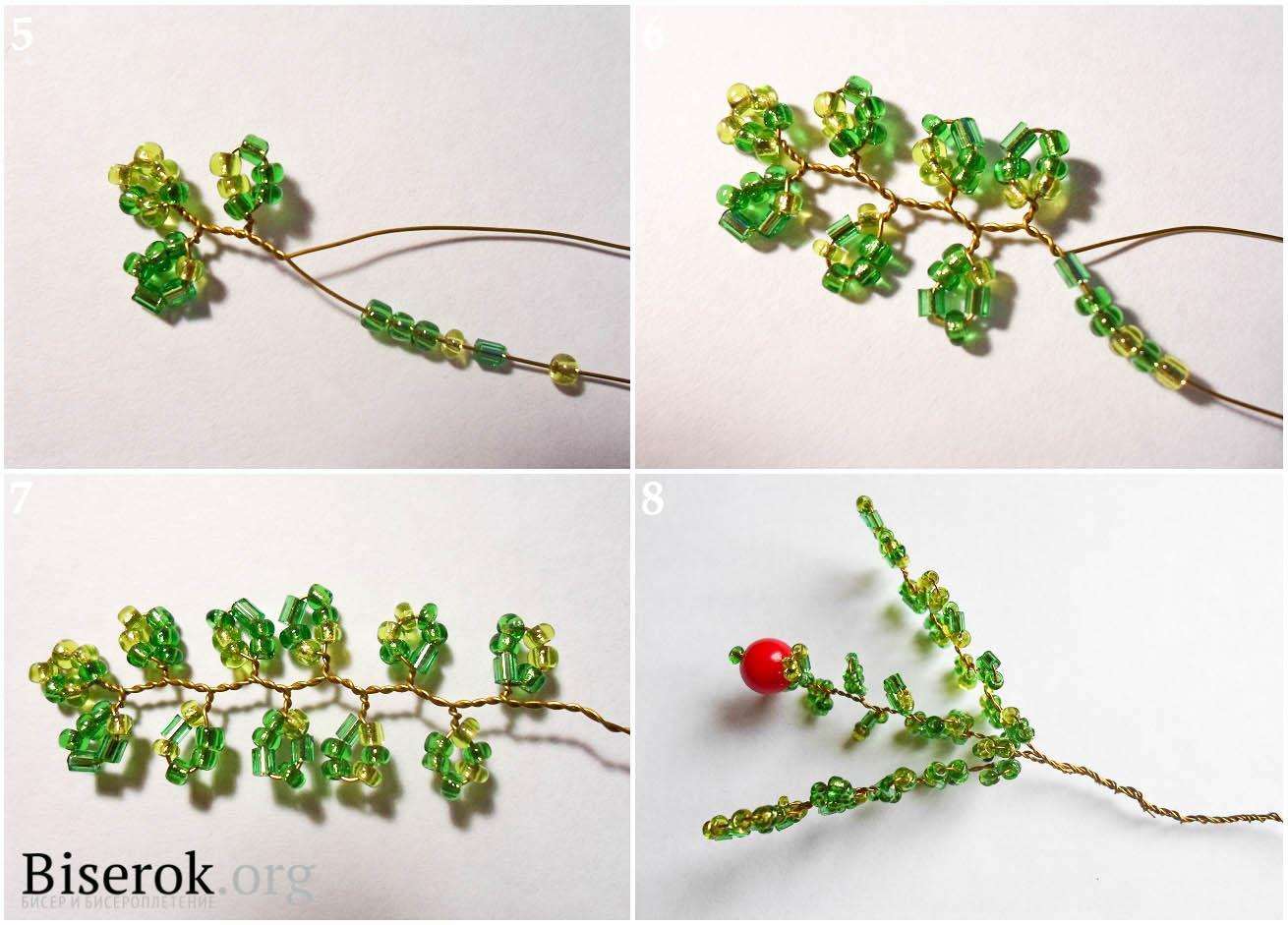 плетение из фольги лилия схема