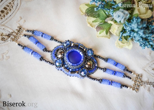 синий браслет своими руками
