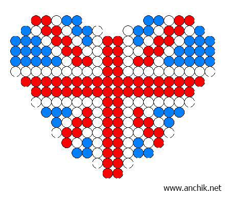 схема плетения сердца из