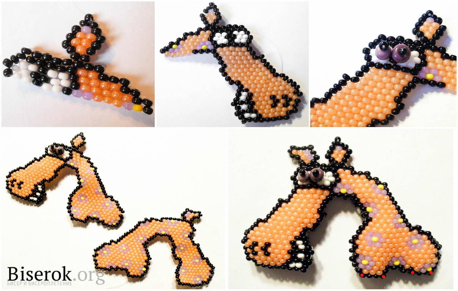 лошадь-подкова крючком схема