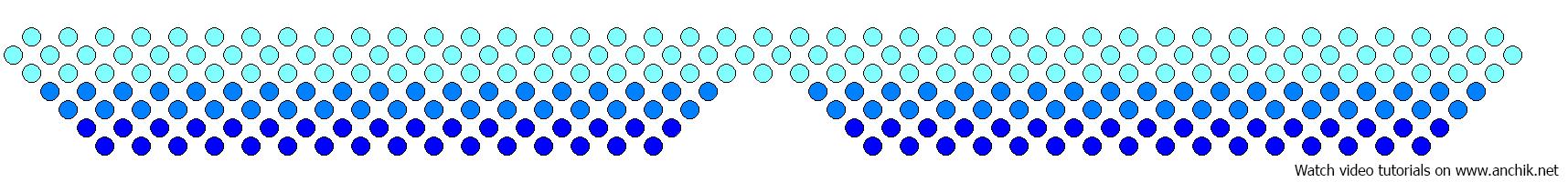 Воротничок из бусин схема
