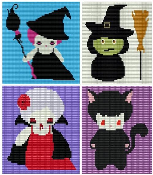Подборка схем к Хэллоуину