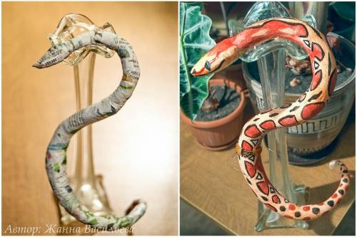 изготовление основы для змеи