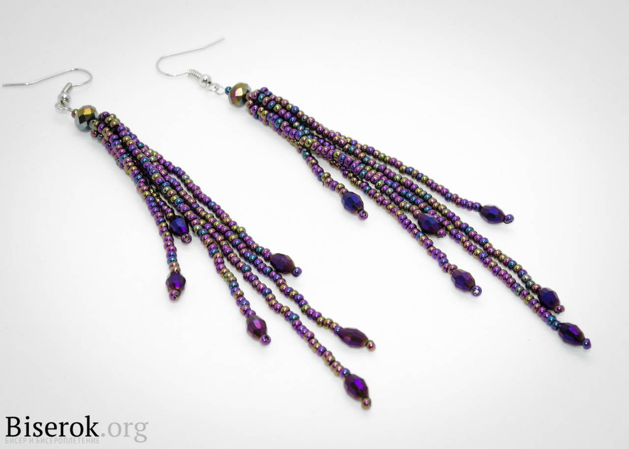 Необходимые материалы для плетения.  Хочу поделиться с вами идеей плетения вечерних сережек из бисера.