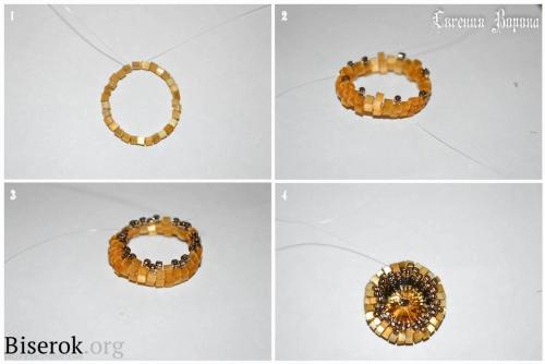 схема оплетения риволи 12 мм