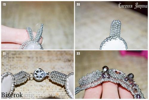 браслет, вышивка бисером по фетру, схема плетение жгута ндебеле, крепление застежки к бисерным изделиям