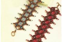 Браслет «Сокровище султана» из стекляруса и бисера