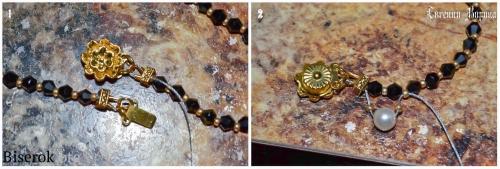 плетеный браслет из бисера с жемчугом, схема