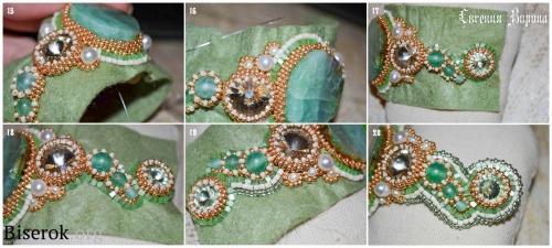 браслет, вышивка бисером, мастер-класс, МК, схема, узоры из бисера